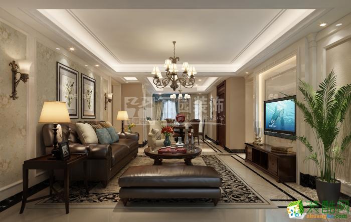 【丽园装饰】金域中央160方欧式风格别墅装修设计效果图