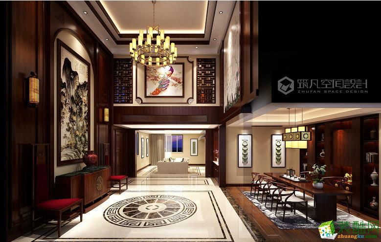 【筑凡装饰】400�O中式风格别墅装修效果图