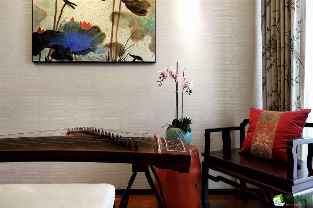 无锡润邦装饰-中式三居室装修效果图