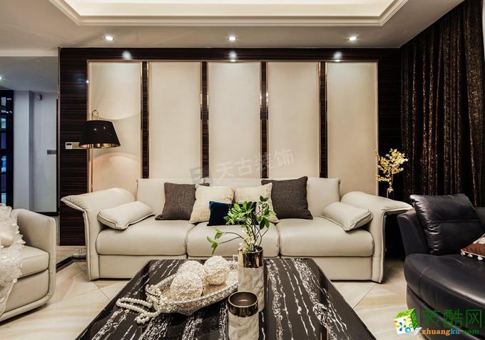 【天古裝飾】龍湖兩江新宸裝修150㎡現代簡約風格四室兩廳裝修案例圖