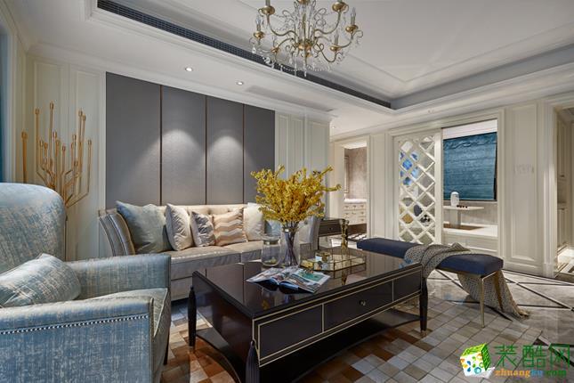 【颜青软装】紫金府135方美式风格四室两厅软装设计