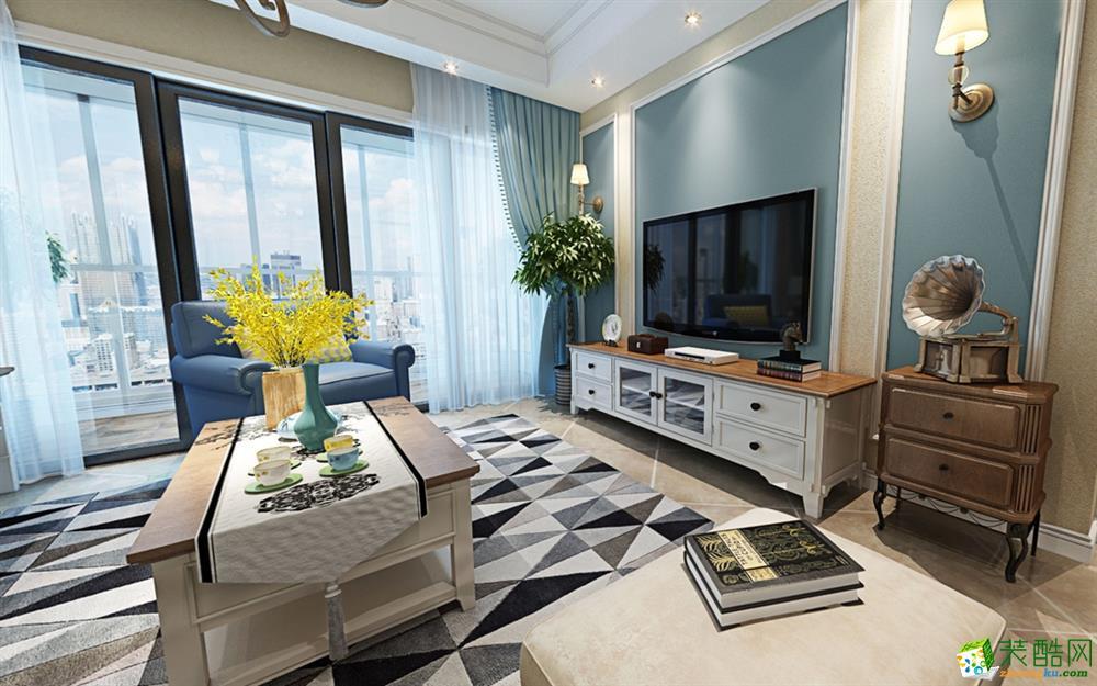 朗润装饰|保利花园悦榕郡101平米简美风格三室两厅装修案例图