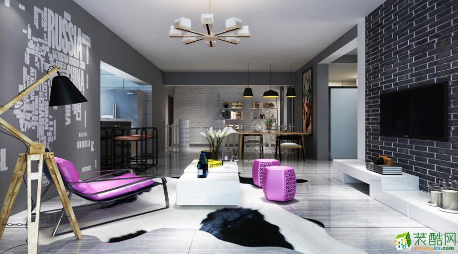 盛星装饰|海长流3期133平米现代风格三室两厅装修案例图