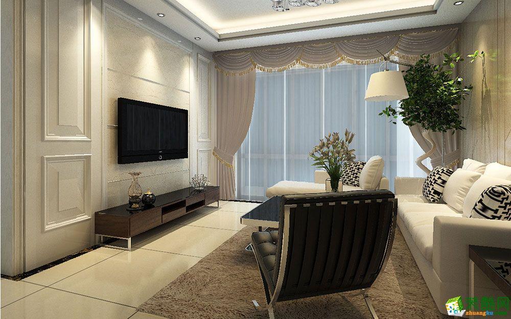 【杭州龙发装饰】温莎北郡现代简约117平米四居室装修效果图