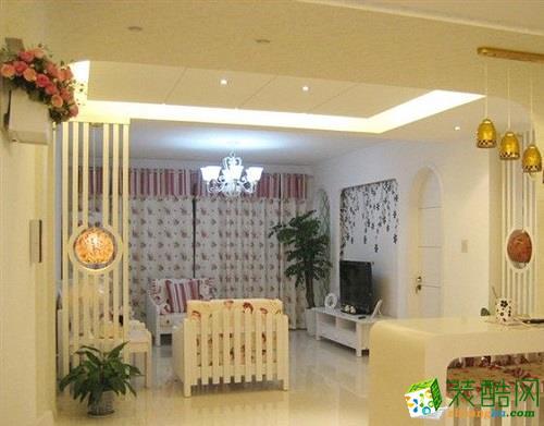 一門興裝飾|韓式風格128平米三室兩廳裝修案例圖