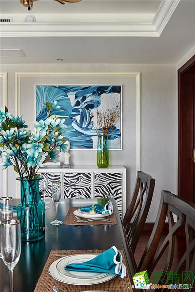 杭州别墅软装设计—150方四室两厅美式混搭风格软装搭配效果图