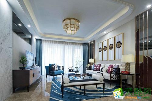 易峰装饰|160平米新中式风格四室两厅装修案例图