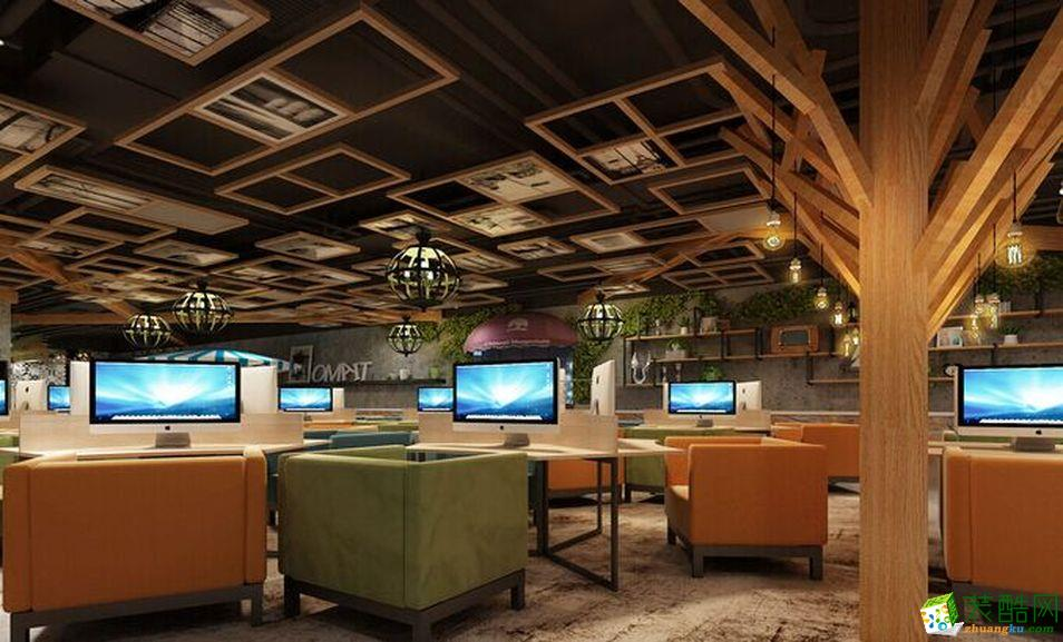 休闲区 鼎庭装饰|960平米中式风格网吧装修案例图赏析。 鼎庭装饰|960平米中式风格网吧装修案例图