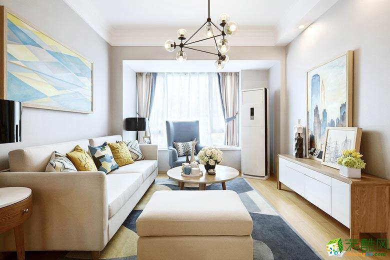 【二十四城装饰】奥园盘龙壹号66平米现代风格两室两厅装修案例图