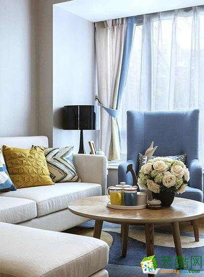 二十四城装饰|奥园盘龙壹号66平米现代风格两室两厅装修案例图赏析。