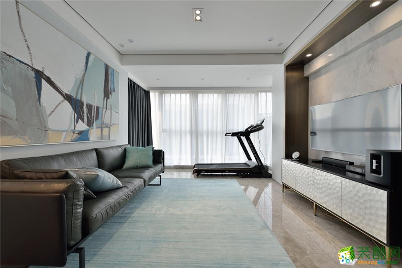 阔达装饰|东安新苑102平米现代简约风格三室两厅装修案例图