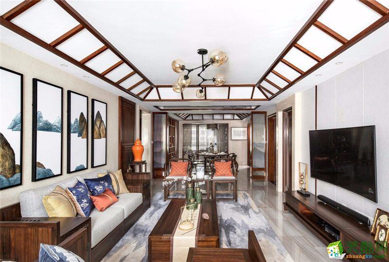 生活家装饰|南国花锦188平米中式风格四室两厅装修案例图