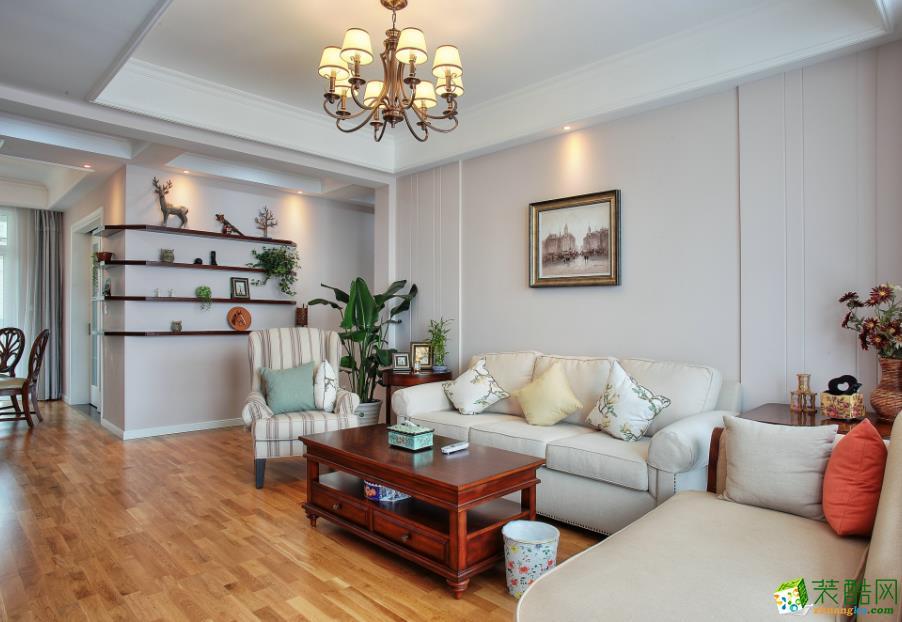 【塞纳春天装饰】简约美式风格家居装修效果图--保利玫瑰湾