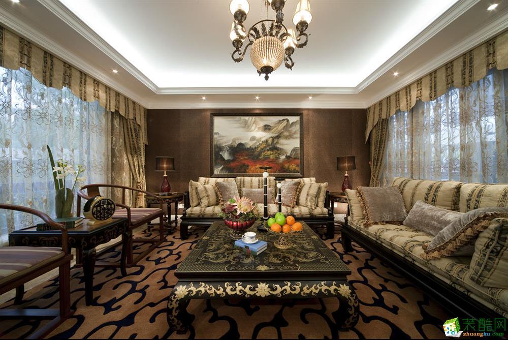 幸福家装饰|招商江湾城180平米四室两厅欧式风格装修案例图