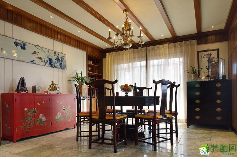 【美颂雅庭装饰】230�O6室两厅新中式风格装修效果图