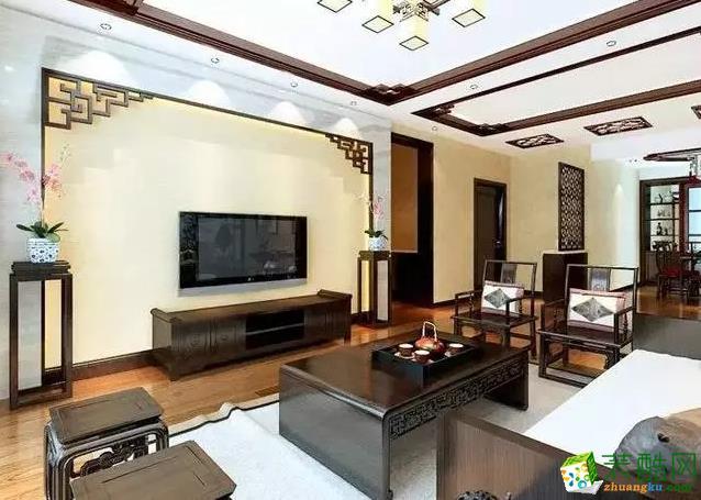 简单的木线分割门厅与客厅,层次丰富,有条不紊。