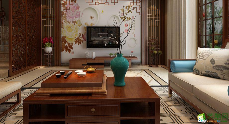 208平米中式风格跃层住宅装修案例图|一品装饰