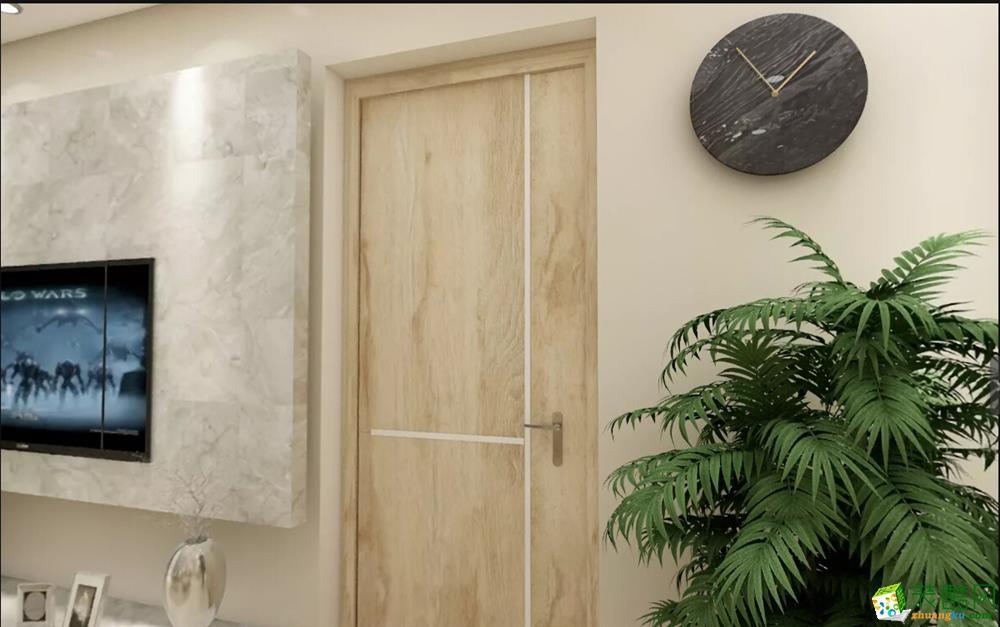 【杰座装饰】106�O北欧三居室装修效果图欣赏