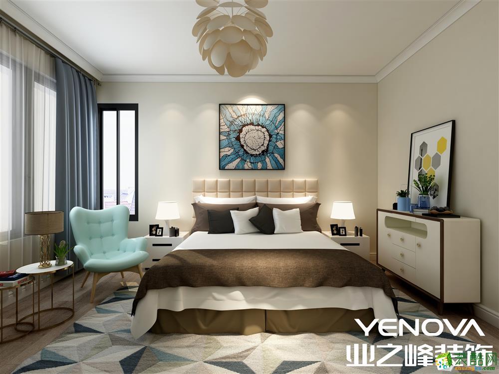 业之峰装饰―江湾山语城125方现代简约风格三居室装修设计效果图