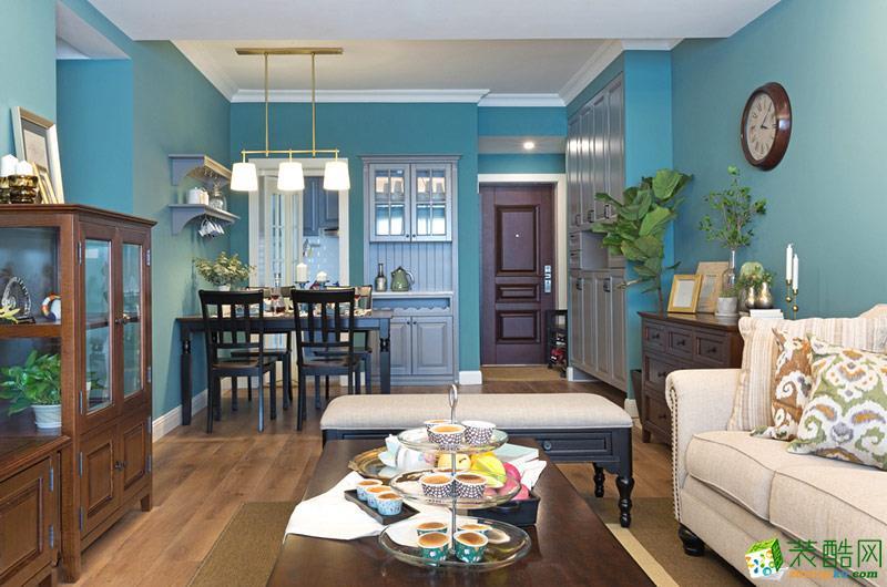 【二十四城装饰】鲁能九龙花园美式风格86平米三居室效果图