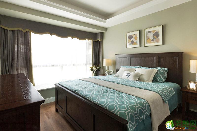 二十四城装饰|鲁能九龙花园美式风格86平米三居室装修案例图赏析。