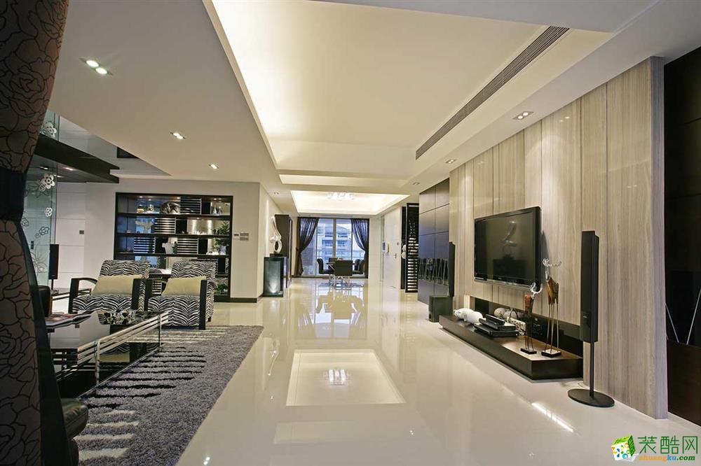 132平米新古典风格三室两厅装修案例图|百辉装饰
