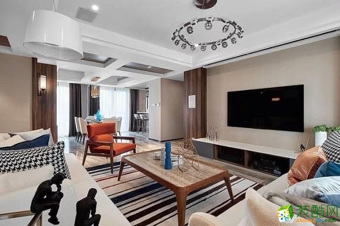 现代台式风格127平米中式风格三室两厅装修案例图 唐卡装饰