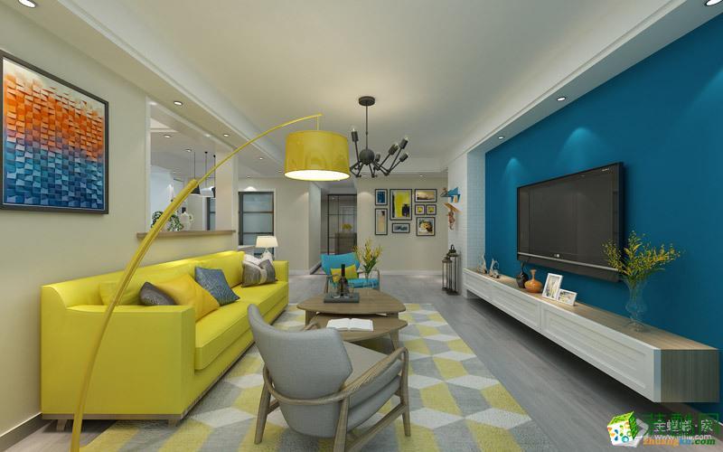 香苑西園168平米北歐風格三室兩廳裝修案例圖 金螳螂家裝飾