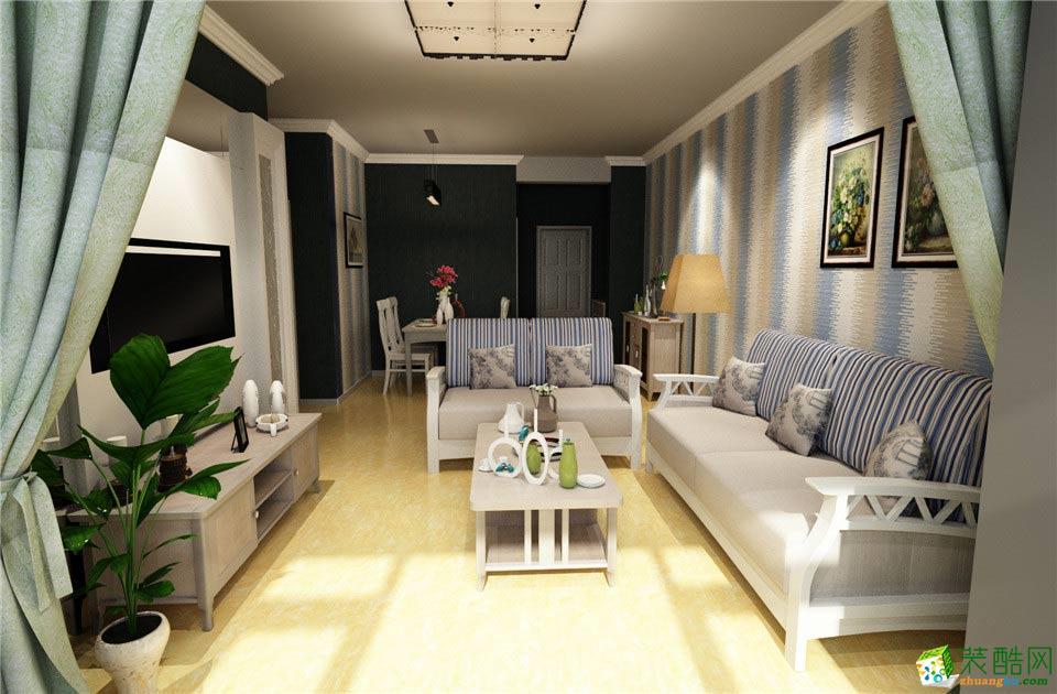 艺筑装饰-现代简约两居室装修效果图