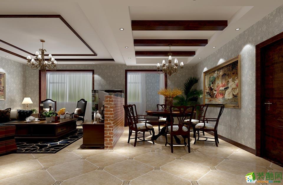 艺筑装饰-美式三居室装修效果图