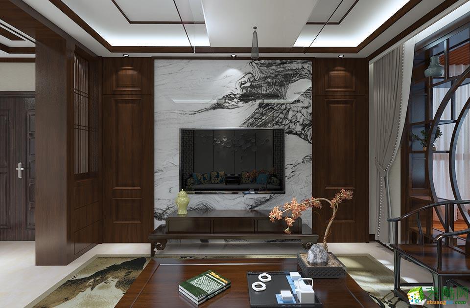 艺筑装饰-中式三居室装修效果图