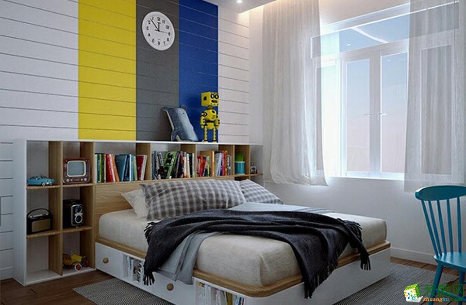 艺筑装饰-现代简约三居室装修效果图