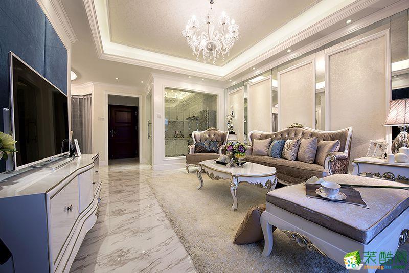 110平米新古典风格三室两厅装修案例图|海阁装饰