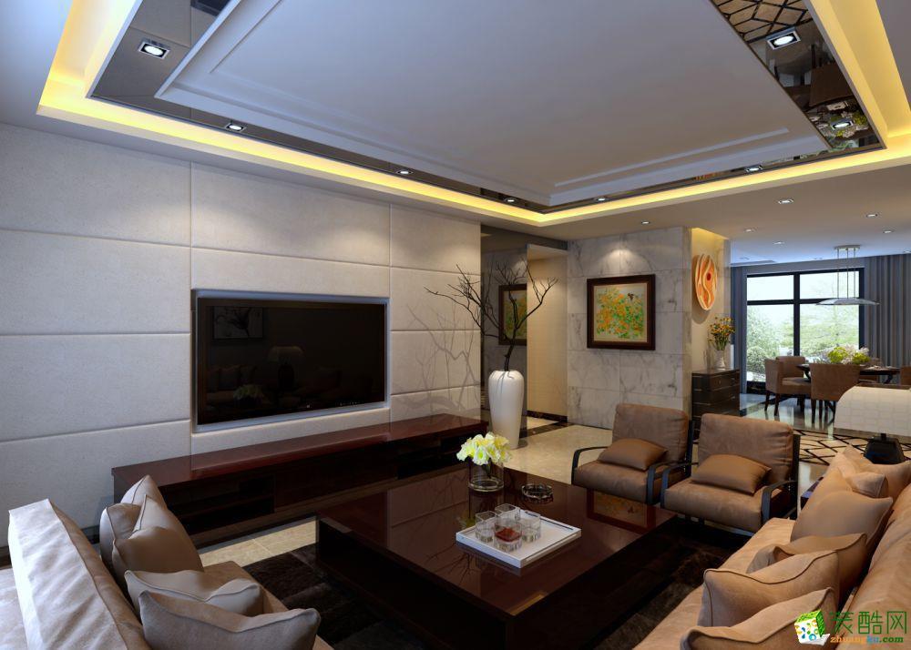 150平米现代简约风格四室两厅装修案例图|铭金装饰