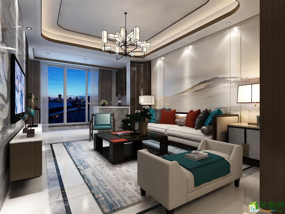 185平米新中式风格四室两厅装修案例图|赛邦装饰