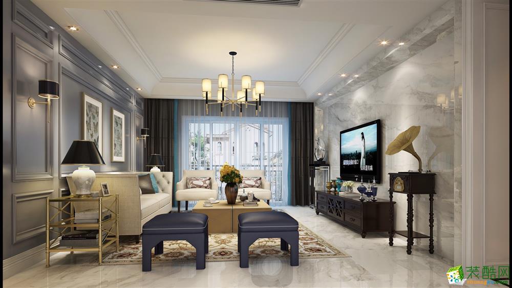 168平米现代简约风格四室两厅装修案例图―赛邦装饰