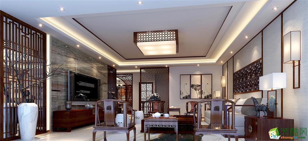 160平米新古典风格三室两厅装修案例图|赛邦装饰