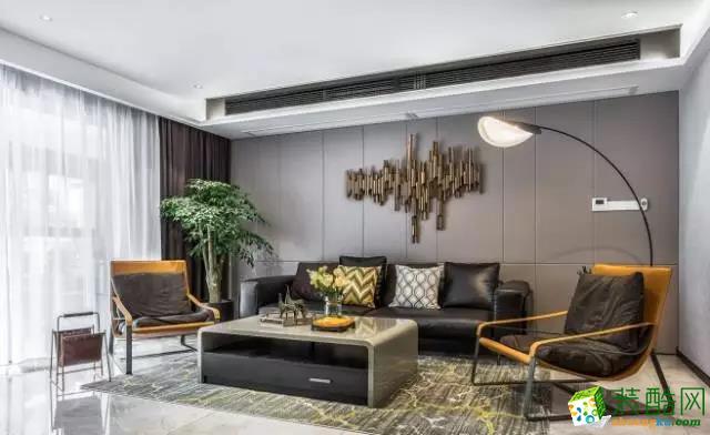 两室两厅|120平米|现代风格|装修效果图