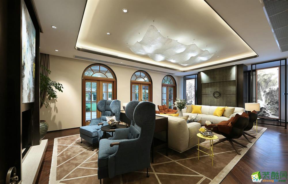 212平米现代简约风格别墅住宅装修案例图―建磊装饰