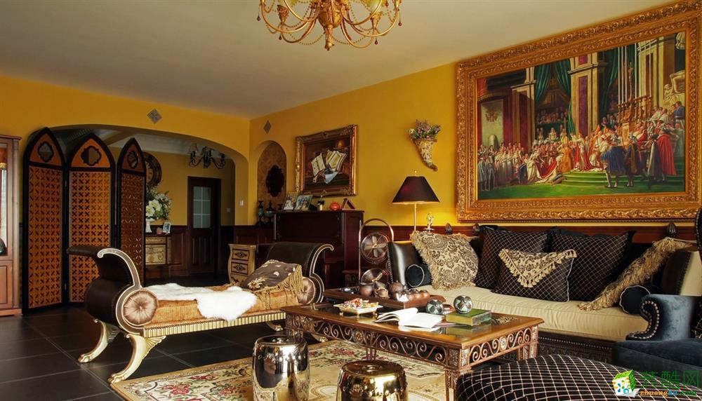 68平米欧式风格两居室装修案例图|星曜装饰