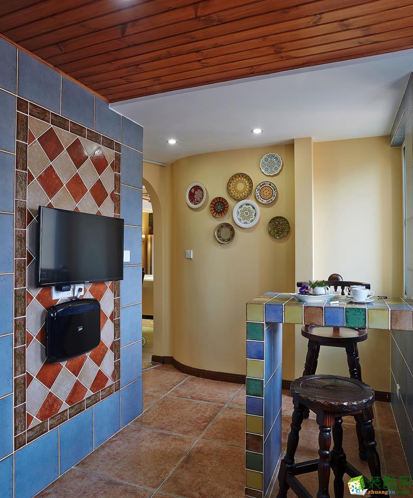 126平米欧式风格三室两厅装修案例图|远诺装饰
