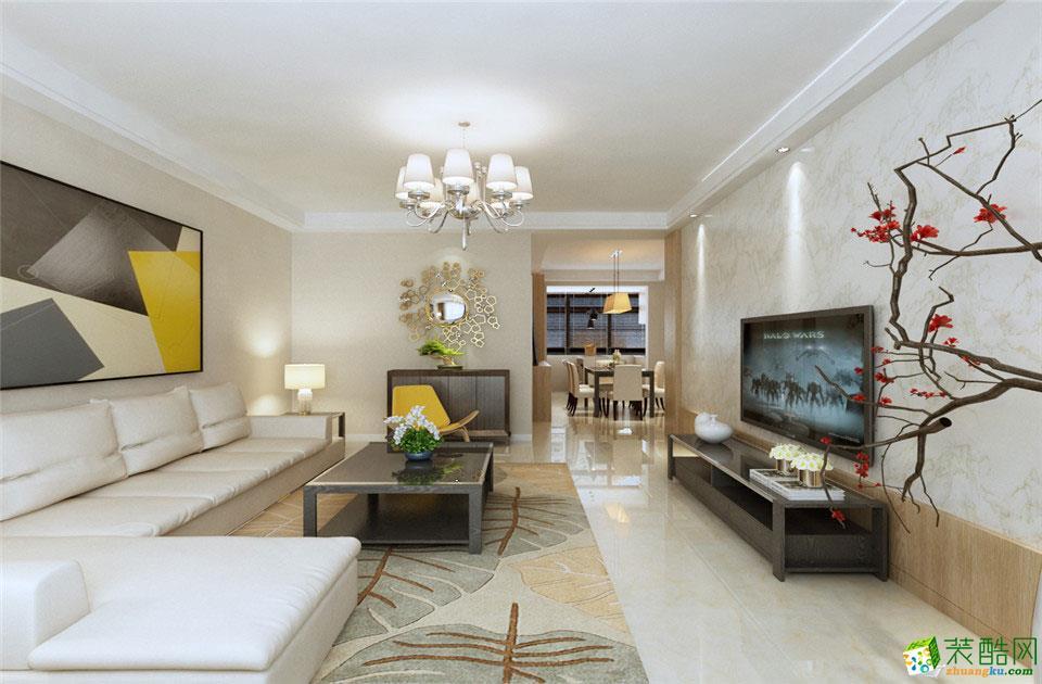 拉萨精远装饰-现代简约三居室装修效果图