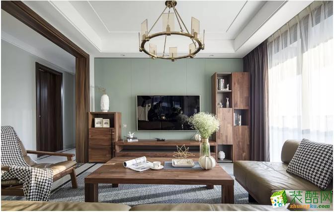 客厅电视背景墙 空间需要阳光和温度,才能生长,才能让生活中需要的一切自然而然地浮现出来。 【金木装饰】138�O阳光美宅装修效果图