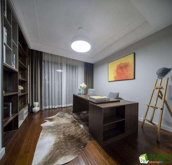 书房 用一间房做书房,不是别墅的专有,这套138平米的房子也可以有! 【金木装饰】138�O阳光美宅装修效果图