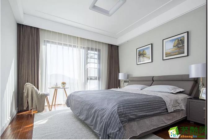 卧室 主卧更加舒适,大大的落地窗,这么美这么仙,估计梦都是甜的吧~ 【金木装饰】138�O阳光美宅装修效果图