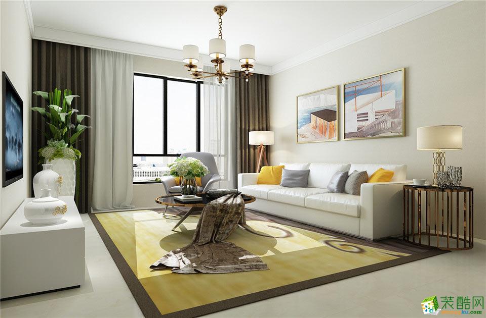 拓博装饰-现代简约三居室装修效果图