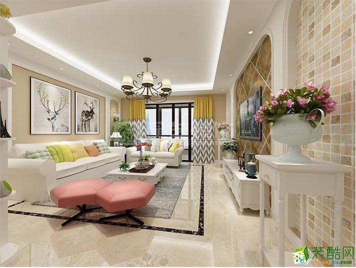 客厅  【星艺装饰】托斯卡纳150�O田园风格装修效果图