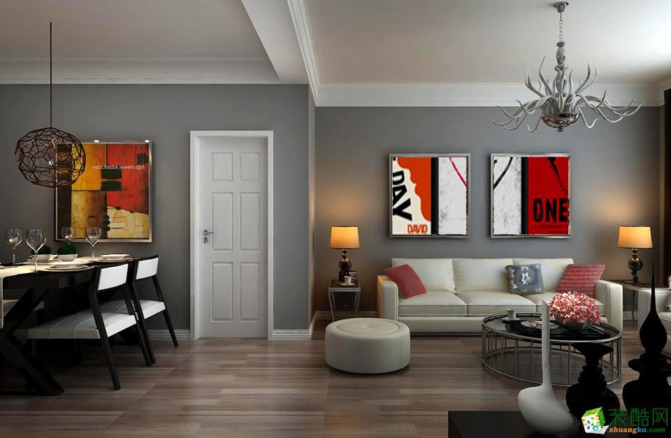 临汾交换空间装饰-现代简约两居室装修效果图