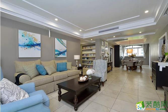 客厅 简约又大气的客厅,应该说的就是这种吧!不需要多华丽的元素,配色,家具,装饰,舒适了,自然也就好看了。 【壹家定制装饰】125�O现代简约三室装修效果图