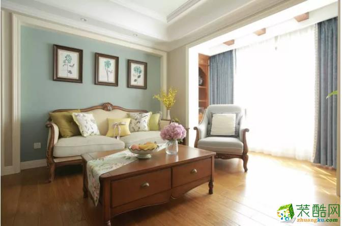 客厅  【豪川装饰】98�O美式风格装修效果图